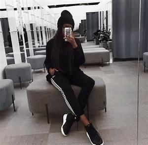 Pants joggers adidas black white black and white sportswear sandra lambeck adidas ...