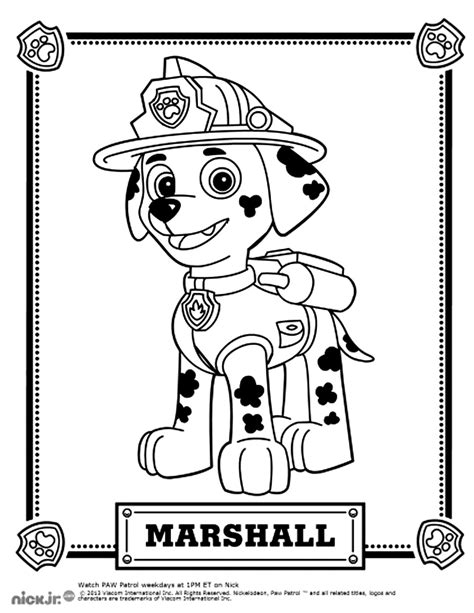 Paw patrol free to color for kids Paw Patrol Kids