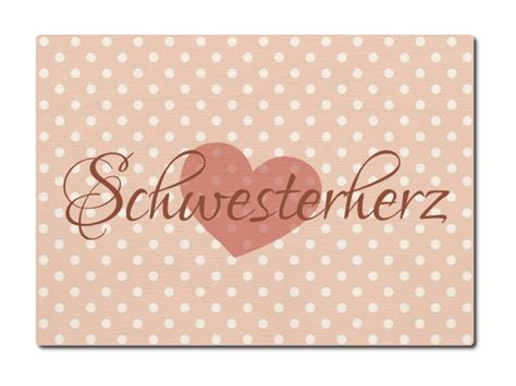 LUXECARDS POSTKARTE aus Holz SCHWESTERHERZ Geburtstag