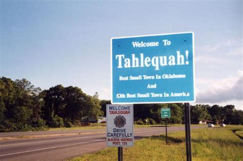 Tahlequah Town Limit Sign