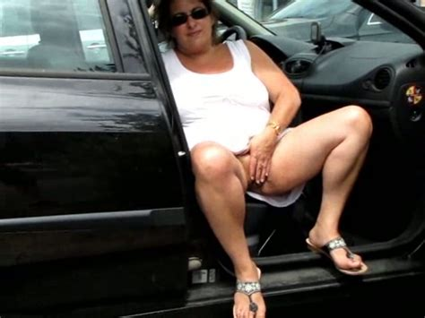 My Fat Mature Wife Masturbating In The Car At The Parking
