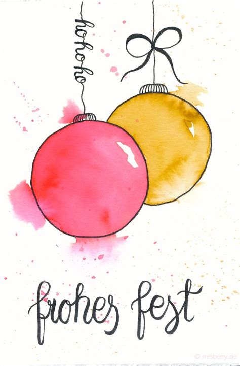 ideas  watercolor christmas cards