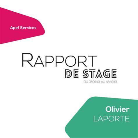 page de garde moderne 2e rapport de stage apef services