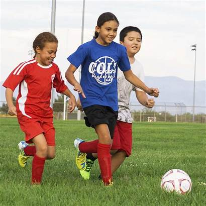 Soccer Playing Boy Coed Youth Sports
