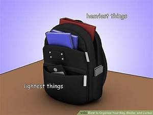 4 Ways To Organize Your Bag Binder And Locker Wikihow