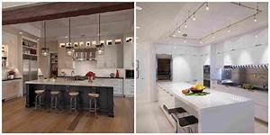 ilot de cuisine et plan de travail 9 idees d39eclairage With quel eclairage pour une cuisine