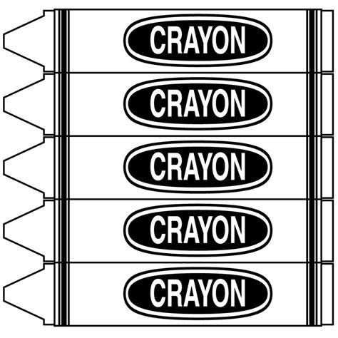 crayon labels template crayon clipart clipartion