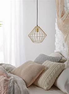 Gold mesh hanging lamp simons for Gold mesh floor lamp