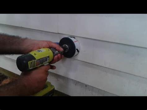 install dryer vent    hole  vinyl siding