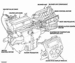 2003 Honda Accord Heat    Ac Control Valve  My Air Mix