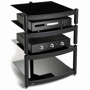 Hi Fi Rack : black hifi stand modern multimedia rack shelving unit ~ Whattoseeinmadrid.com Haus und Dekorationen