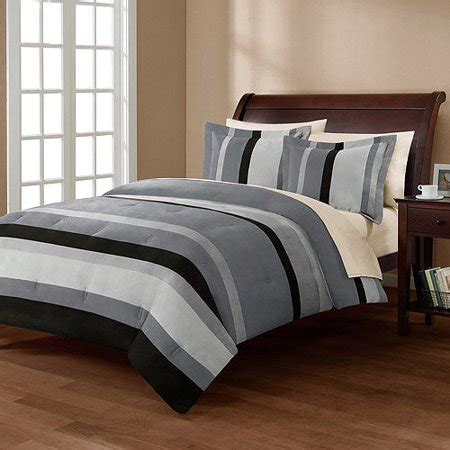 28053 mainstays bedding set mainstays boulder stripe comforter mini set walmart