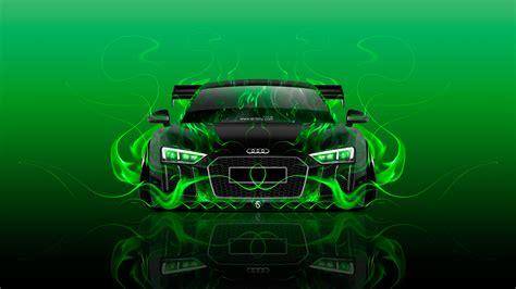 Audi R8 Front Super Fire Abstract Car 2016 Wallpapers El