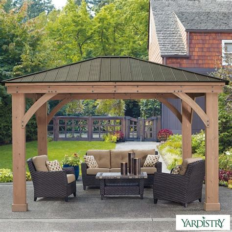 Gazebo Costo Yardistry 14ft X 12ft 4 3 X 3 7m Cedar Gazebo With