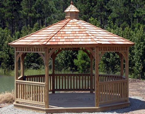gazebo roofs cedar shingle oz gazebos and huts