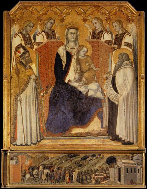file pietro lorenzetti madonna col bambino san nicola di bari elia e angeli chiesa
