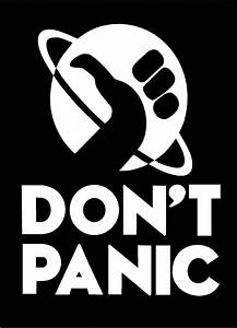 Don U0026 39 T Panic Decal Hitchhiker U0026 39 S Guide To The Galaxy Movie