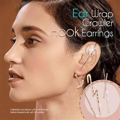 Ear Hook Earrings Wrap Earring Around Kolczyk