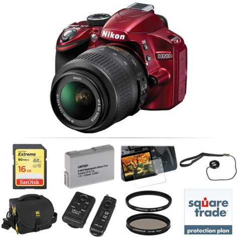 nikon d3200 dslr 18 55mm vr lens kit nikon d3200 dslr with 18 55mm lens deluxe kit b h