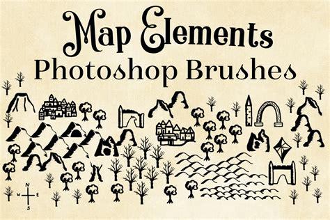 map elements photoshop brushes cartography brushes