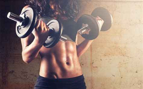 wallpaper dumbbells weights exercise fitness woman