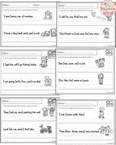 Kindergarten Sight Word Sentences Worksheets