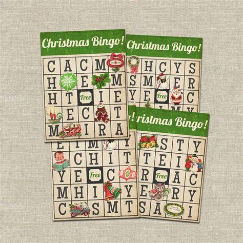 20 free printable christmas bingo cards. Christmas bingo card printable game. $20.00, via Etsy ...