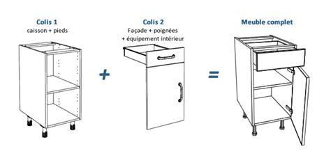 dimension caisson cuisine meuble caisson cuisine cuisine en image