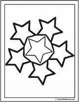 Coloring Stars Pages Star Circle Sheet Pdf Printable Fancy Colorwithfuzzy sketch template