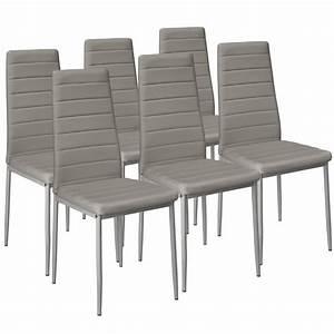 Chaise De Salon Design : 6x chaise de salle manger ensemble salon design chaises cuisine gris ebay ~ Teatrodelosmanantiales.com Idées de Décoration
