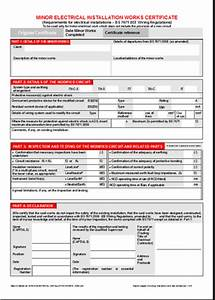 the minor electrical installation works certificate With minor electrical installation works certificate template