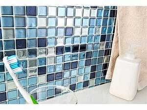 Selbstklebende Fliesen Bad : infactory selbstklebende 3d mosaik fliesenaufkleber aqua 26 x 26 cm 3er set ~ Somuchworld.com Haus und Dekorationen