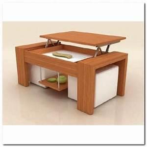 Table Plateau Bois : table basse plateau relevable bois 2 poufs blanc achat vente table basse table basse plateau ~ Teatrodelosmanantiales.com Idées de Décoration