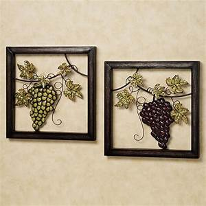 20 ideas of metal grape wall art wall art ideas With kitchen colors with white cabinets with metal wine bottle wall art
