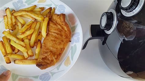 fryer fish air cod chips battered cooking