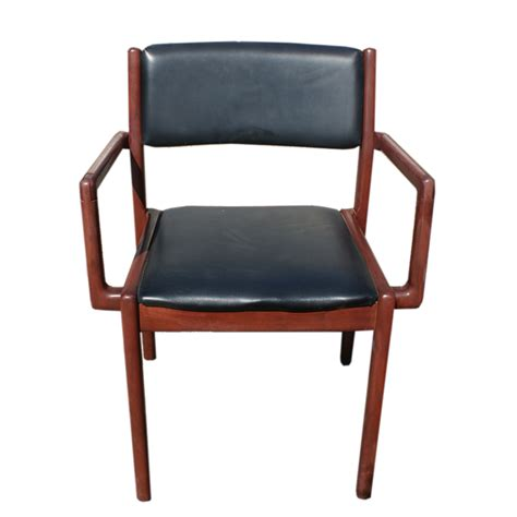 vintage mid century modern oak desk chair ebay