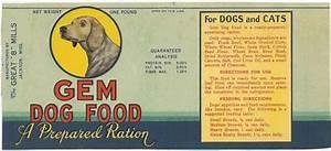 Gem Dog Food label. 1930s? | Vintage Pet Food ...