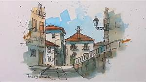 A pen and wash watercolor in my Urban Sketching style ...
