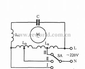 Single-phase Motor Winding Tap L-1 Connection Three-speed Circuit - Basic Circuit