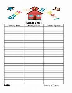 Pinterest discover and save creative ideas for Back to school sign in sheet template