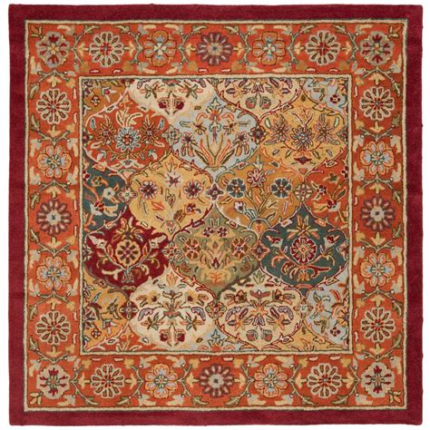 8 foot area rugs safavieh heritage multi 8 ft x 8 ft square area rug