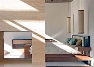 A modern bedroom with pendant lighting decoist
