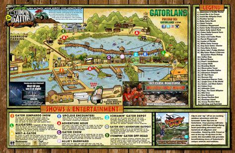 park map gatorland orlando florida family adventure