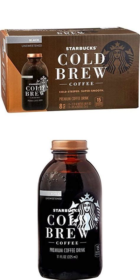 Start with this custom blend of coarsely ground coffee, specially developed for brewing cold. Starbucks Cold Brew Premium Black Coffee Drink, Unsweetened, 11 oz (8-Pack) | Coffee drinks ...