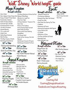 Walt Disney World Height Chart With Images Disney