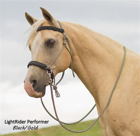 bridle bitless rope lightrider horse performer bridles horses western natural riding tack cute headstall halters ranch draft