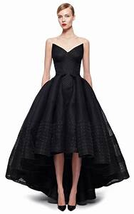 Lyst zac posen embroidered organza gown in black for Robe organza