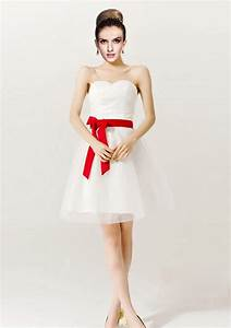 Gorgeous Short Red and White Wedding Dresses | Sang Maestro