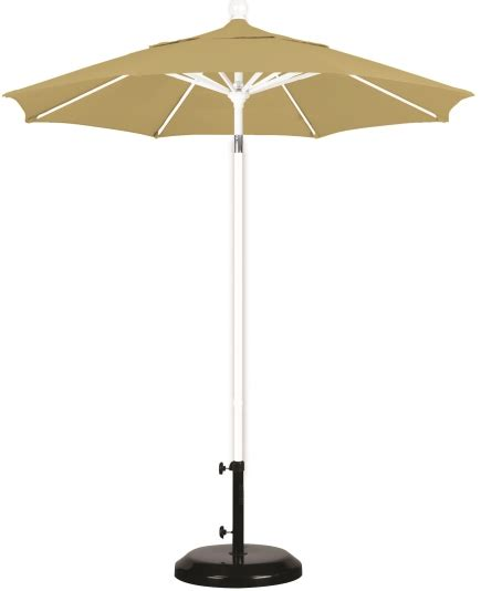 shade usa 7 5 foot sunbrella a aluminum patio table umbrella