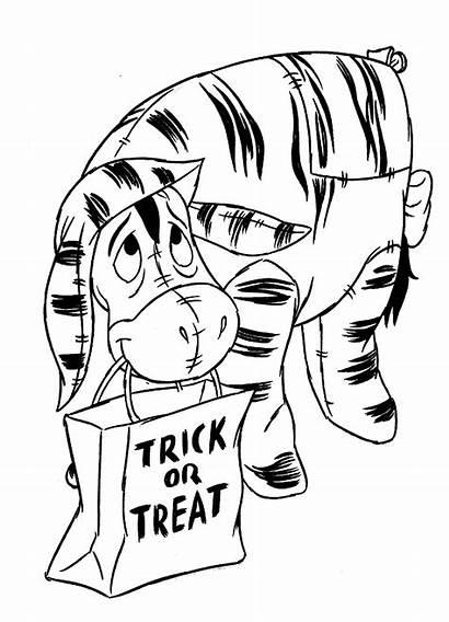 Eeyore Fun Winnie Pooh Coloring Halloween Pages